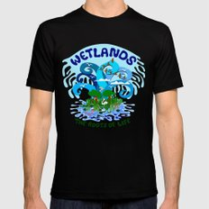 Wetlands SMALL Mens Fitted Tee Black
