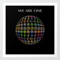 WE ARE ONE - Color Versi… Art Print