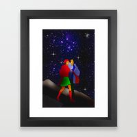 Appointment at the pleiades. Framed Art Print