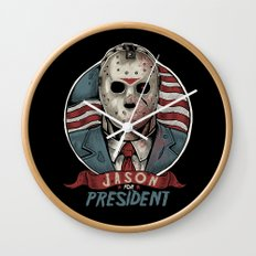 Jason For President Wall Clock