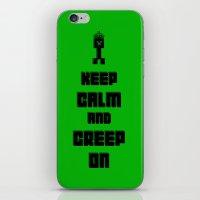 Keep Calm and Creep On iPhone & iPod Skin