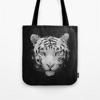 Meduzzle: White Tiger Tote Bag