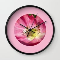 pink bloom focus IX Wall Clock