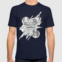 Ouroboros Mens Fitted Tee Navy SMALL