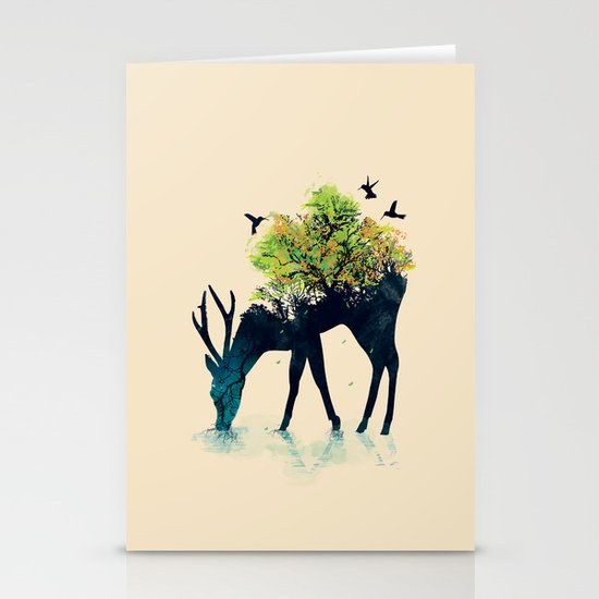 Watering (A Life Into Itself) Stationery Card