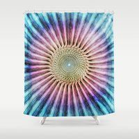 Textured Mandala Tie Dye Shower Curtain