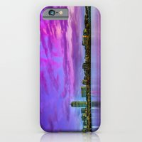 Sun dusk over Boston iPhone 6 Slim Case