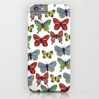 iPhone & iPod Case featuring Flutterby Butterfly by HarrietAliceFox