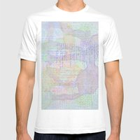Words And Water Paint Mens Fitted Tee White SMALL