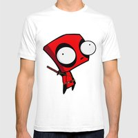 Dead-pool GIR  Mens Fitted Tee White SMALL