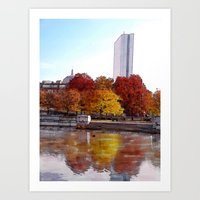 Back Bay Watercolor Art Print