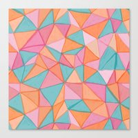 Watercolor Triangles Canvas Print