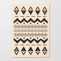 Peach Aztec Canvas Print