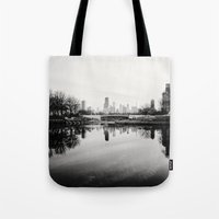 Chicago Skyline from South Pond Tote Bag