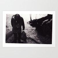Boy by the River Art Print