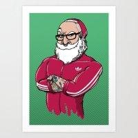 MR.SANTA ( Movember Edition ) Art Print