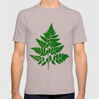 Fern leaf Mens Fitted Tee Cinder SMALL