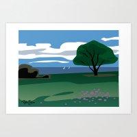 CA coast scene Art Print