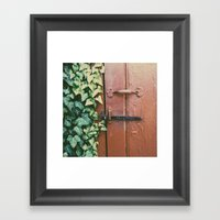 Ivy's Door Framed Art Print