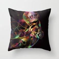 Vivid Skulls of Life Throw Pillow
