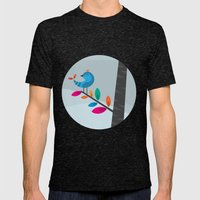 Blue Bird Mens Fitted Tee Tri-Black SMALL