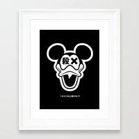 Mickey Duck Framed Art Print