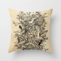 Blooming Flight Throw Pillow