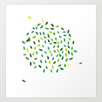 Leaf Ball Art Print