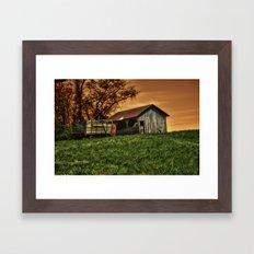 Barn on the Hill Framed Art Print