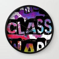 NO MORE CLASS WAR Wall Clock
