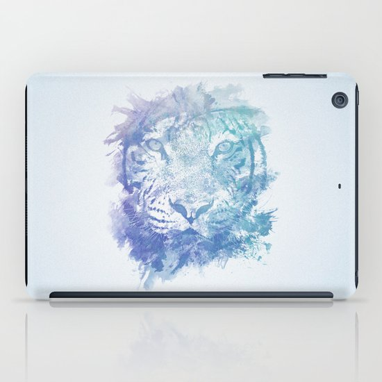 Abstract Watercolor Tiger Portrait / Face iPad Case