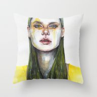Yellow Lemongrass Throw Pillow