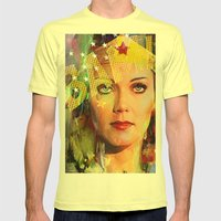 Wonder Mens Fitted Tee Lemon SMALL