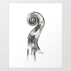 Scroll Art Print