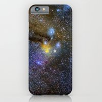 The Milky Way and constellations Scorpius, Sagittarius and the super big red star Antares. iPhone 6 Slim Case