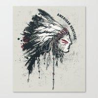American Heritage (White) Canvas Print