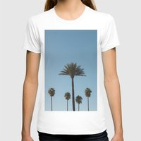 Palm Trees Womens Fitted Tee White SMALL