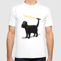 Cat Vader SMALL Mens Fitted Tee White