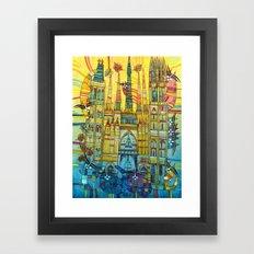 CAT-HEDRAL Framed Art Print