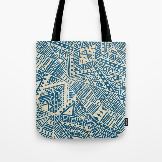 Tribal (blue)  Tote Bag