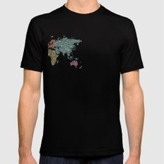 Paisley World Black Mens Fitted Tee SMALL