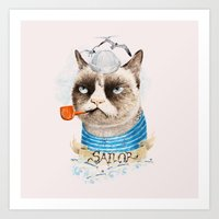 Sailor Cat VIII Art Print