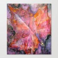 Leaf Rubbing Canvas Print