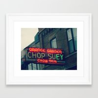 Chop Suey II ~ Chicago vintage neon sign Framed Art Print