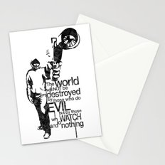 Anonymous and typography quote Stationery Cards