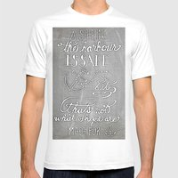 Chalkboard Hand-lettered… Mens Fitted Tee White SMALL