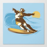 God Surfed Canvas Print