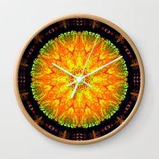 Citrus Slice Kaleidoscope Wall Clock