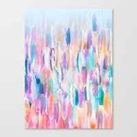 Candy Feathers  Canvas Print