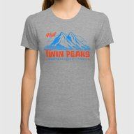 Visit Twin Peaks (orange… Womens Fitted Tee Tri-Grey SMALL